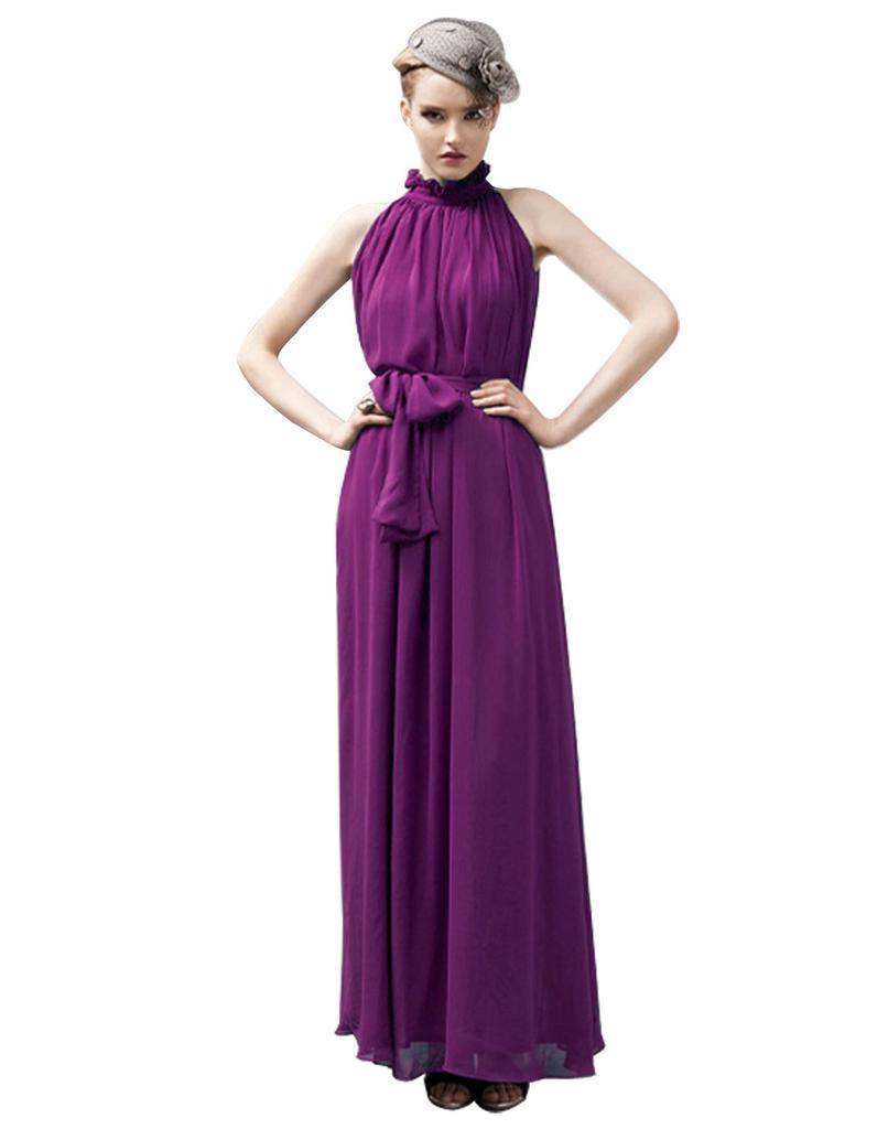 Las mujeres de moda elegante Sexy vestido largo Maxi gasa - comprar ...