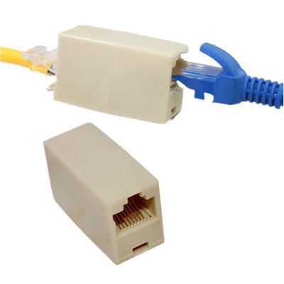 RJ45 Coupler,RJ45 Ethernet Network Splitter Adapter,RJ45 Female to Female Adapter Compatible Cat5,Cat5e,Cat6 Ethernet Extension Connector-2pcs