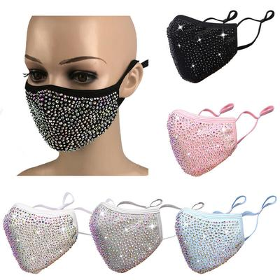 Reusable Fancy Fashion Face Mask Sequin Bling Glitter Rhinestones