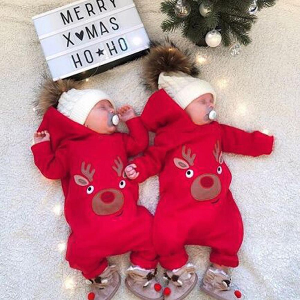 Tronet Winter Baby Clothes,Newborn Baby Boy Girl Xmas Deer Romper Jumpsuit Christmas Clothes Outfits