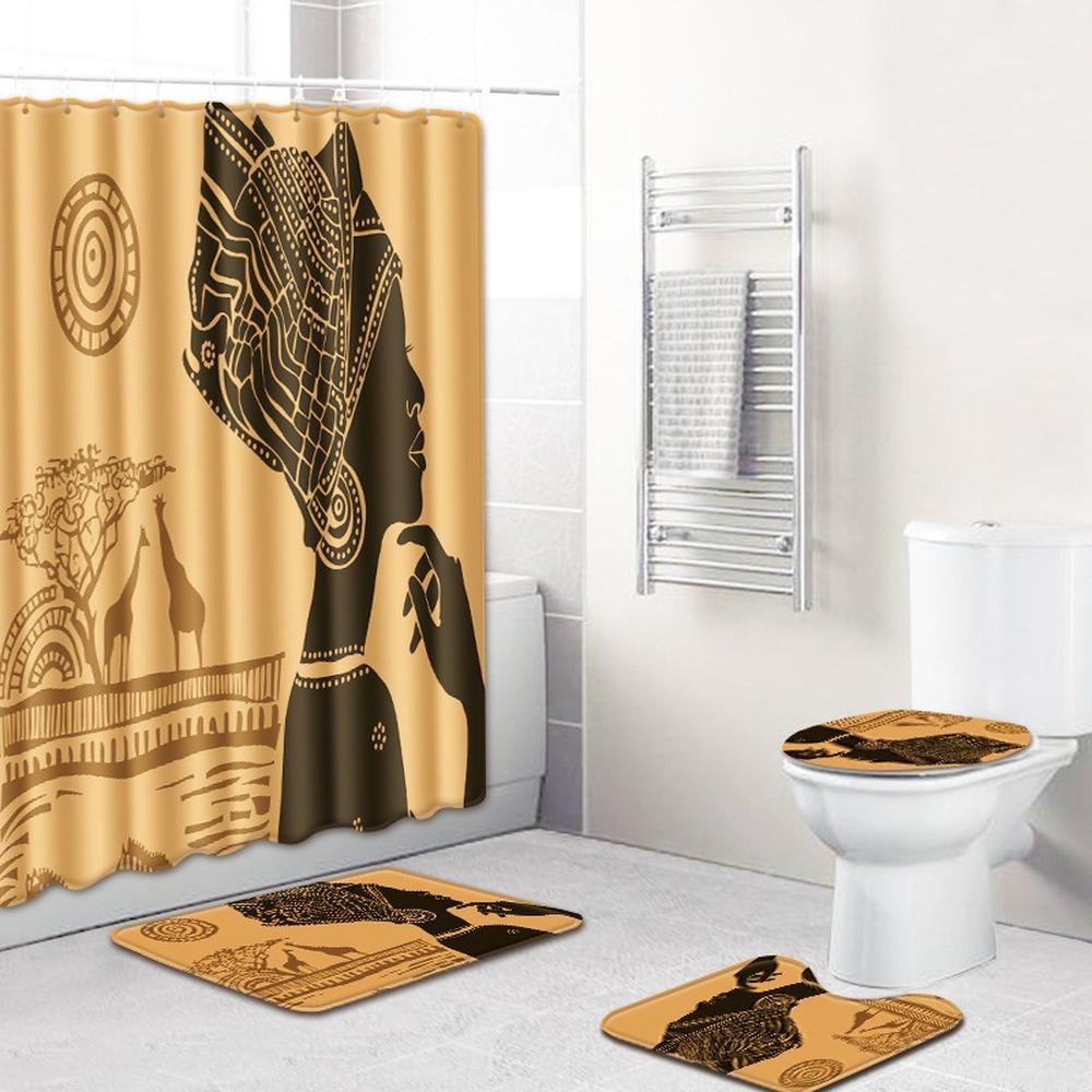 71x71 Indian Anti Slip Shower, Contemporary Bathroom Rug Sets India