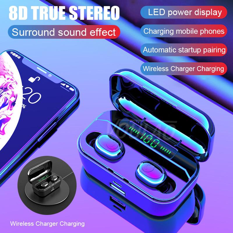 Bluetooth Earphone Tws Wireless Headphone With 3500mah Power Bank Bluetooth V5 0 Led Display Headset Buy At A Low Prices On Joom E Commerce Platform