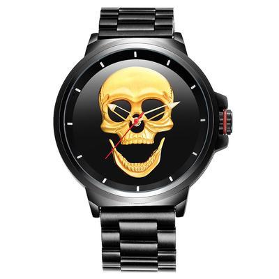 7314f090a9d Relógio esqueleto aço impermeável Quartzwatch Cool Boy relógios masculino  Wristswatch TW