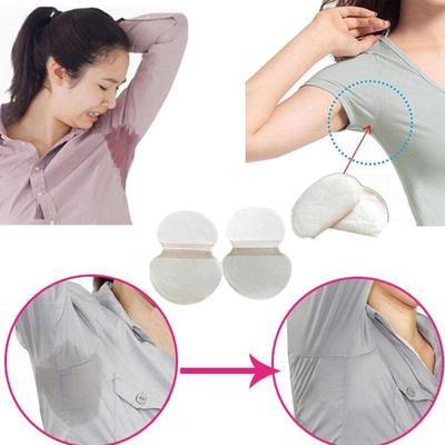 Unisex Underarm Sweat Dress Clothing Absorbent Pads Disposable Sweat Pads 60pcs Pure Color Soft Armpit Sticker