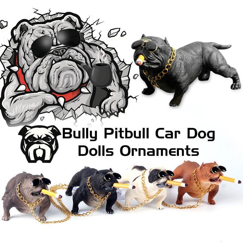 Bully Doggy Simulated Car Dog Dolls Ornaments Pendant Auto Interior Decoration Ornaments Toys Gift Car Accessories Ornaments Interior Accessories