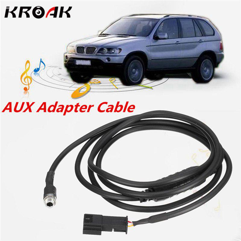 Car AUX In Input Interface Adapter 3.5mm MP3 Cable Kit For BMW E39 E53 X5 E46