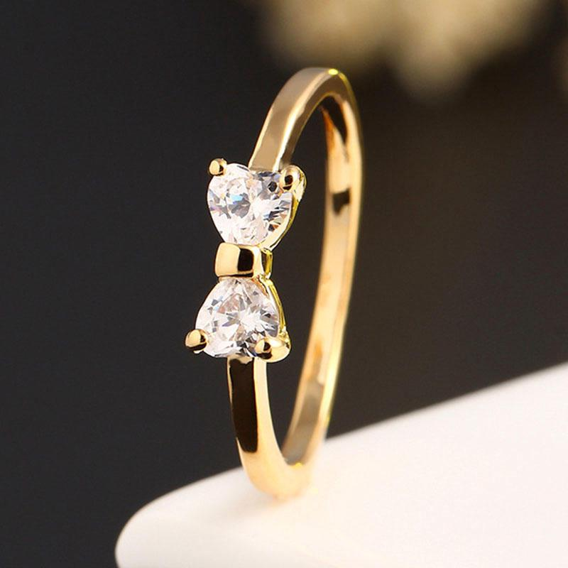 Finger Bow Wedding Engagement Rings Women Jewelrybuy at lowprice