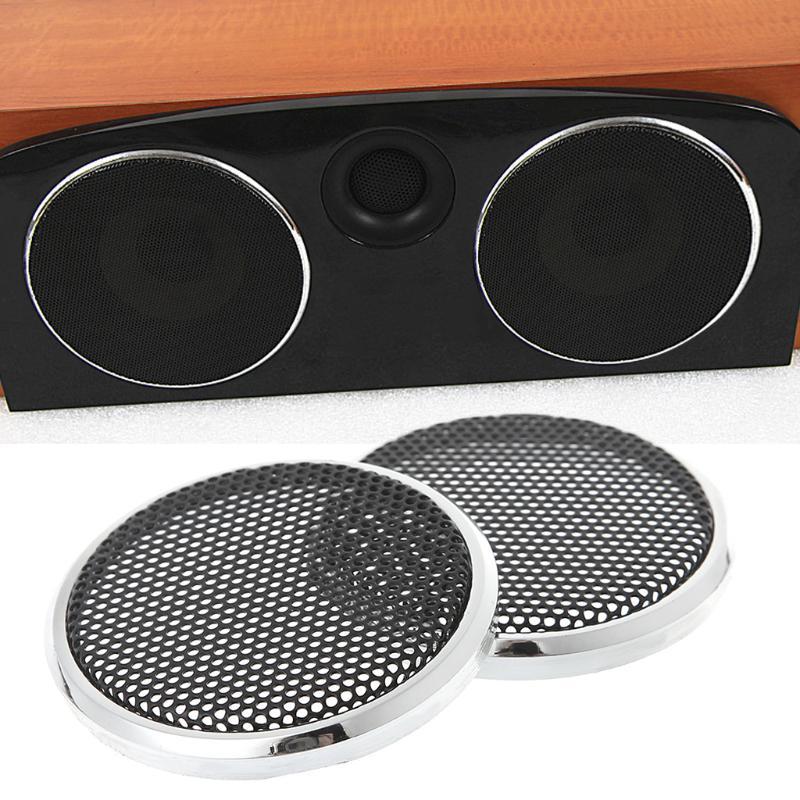 "2x New Black DIY 3/"" Auto Speaker Decorative Protective Circle Mesh Circle Grille"