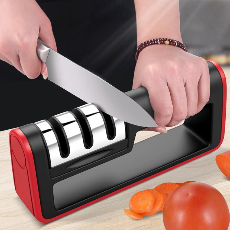 Многофункциональная трехсекционная точилка для ножей. Материал: ABS + нержавеющая сталь – купить по низким ценам в интернет-магазине Joom