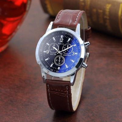 Men's Luxury Fashion Business Quartz Watch Leather Strap Stainless Steel Automatic Mechanical Clock