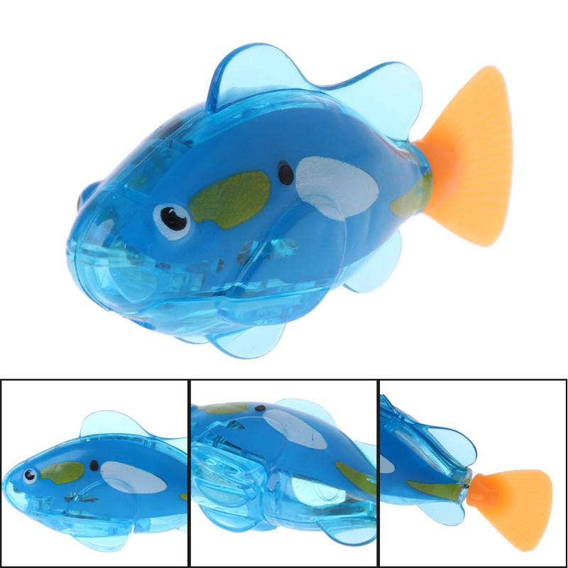 1PC Swimming Electronic Fish Battery Robofish Toy For Children Kid Bathing Toys
