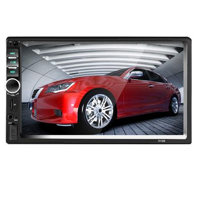 2 Din Touch Screen car Multimedia Player Support Mirror-Link Rear View  Camera 7018B