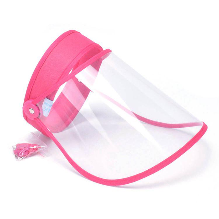 US Stock Face Protective Visor Plastic Adjustable Transparent Face Shield Pink