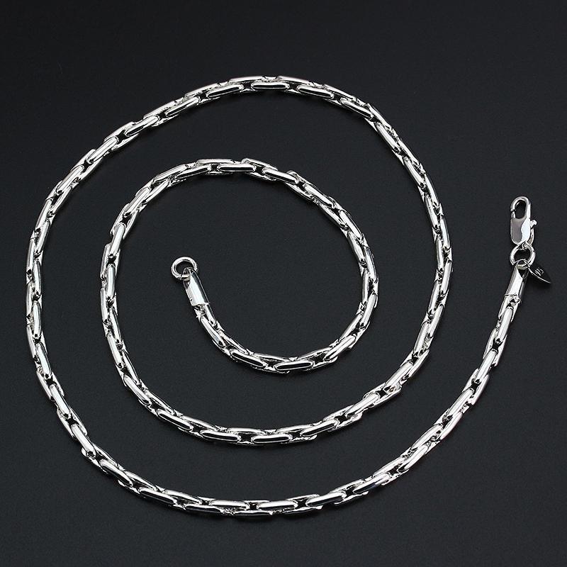 Plata esterlina 925 Collar Cadenilla 4mm 22 Pulgadas Joyería para Mujer Damas Regalo