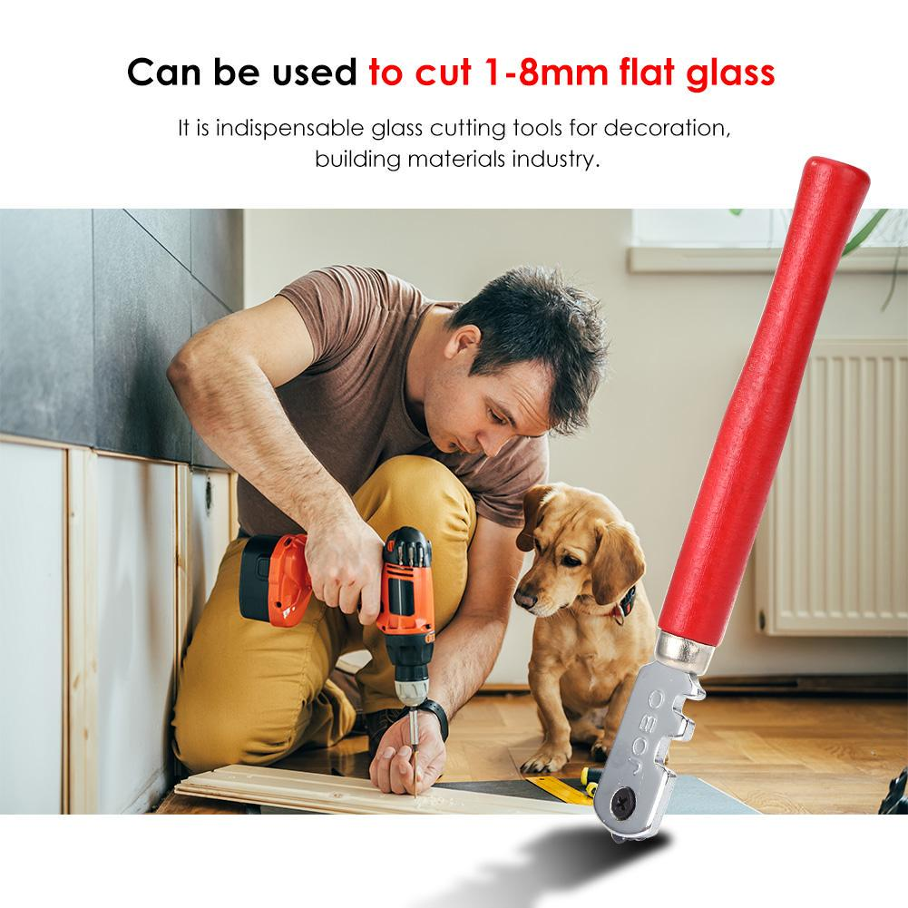130mm  Professional Portable Diamond Tipped Glass Tile Cutter Window Craft For
