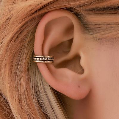 Womens Ear Cuff Earrings Wrap Fashion Clip On Punk Rock Cuffs Fake Stud Silver