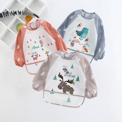 Kid Boy Girl Baby Child Waterproof Feeding Bib Apron Art Painting Smock Cover