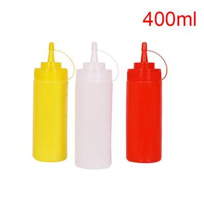 5Pcs Plastic Squeeze Bottles 8 Oz Sauce Condiments Oil Dispenser Container Tools