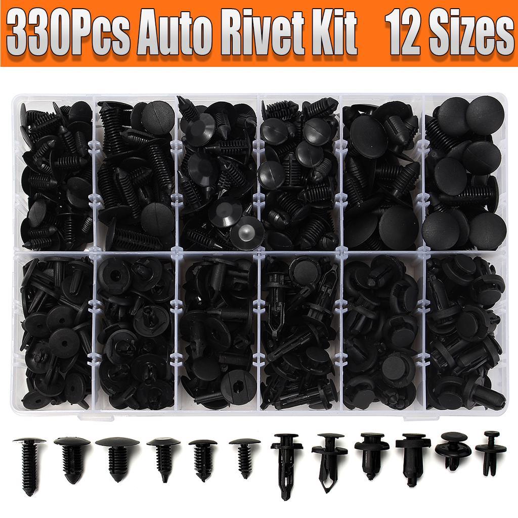 330pcs Car Body Retainer Push Type Pin Rivet Trim Clip Panel Moulding Assortment