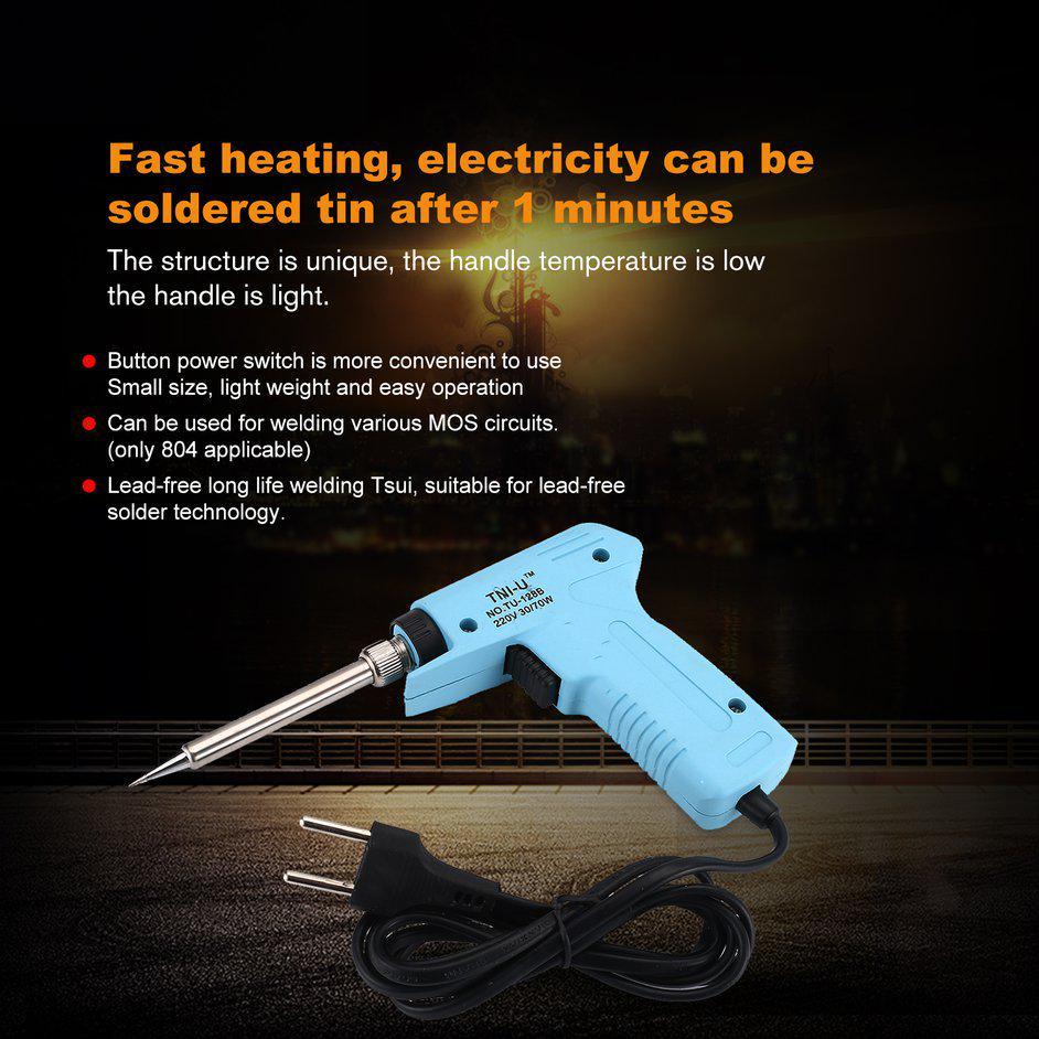 NEW 200W Soldering Iron Heavy Duty Chisel Point 200 Watt Craft Tools AC 220V