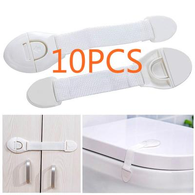 Adhesive Safety Latches Door Cupboard Cabinet Fridge Drawer Locks 10 Pcs Child