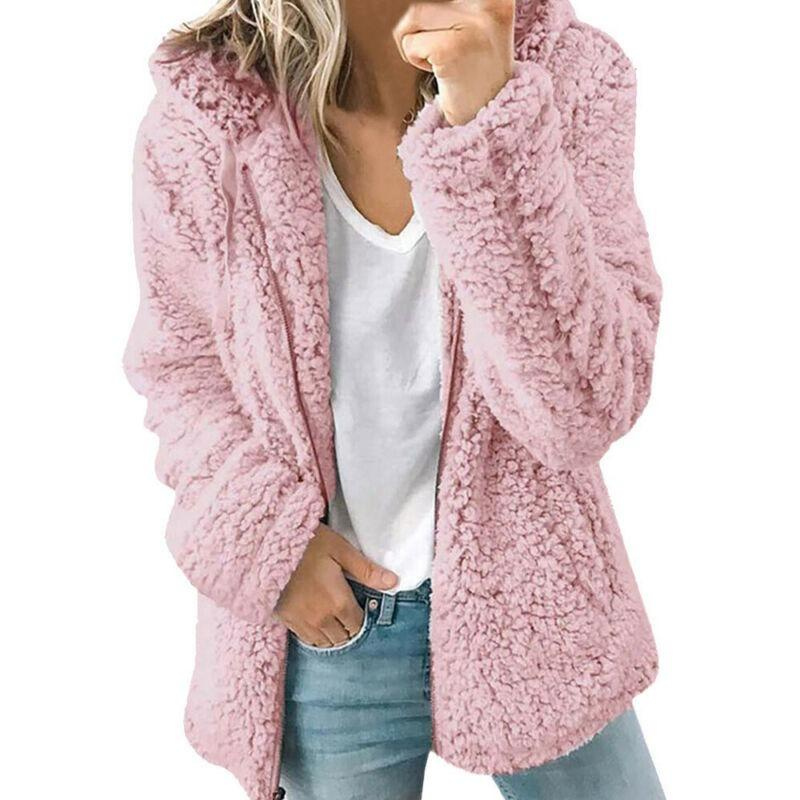 Wome/'s Teddy Bear Warm Fluffy Hooded Coat Parka  Long Hoodie Jacket Outwear