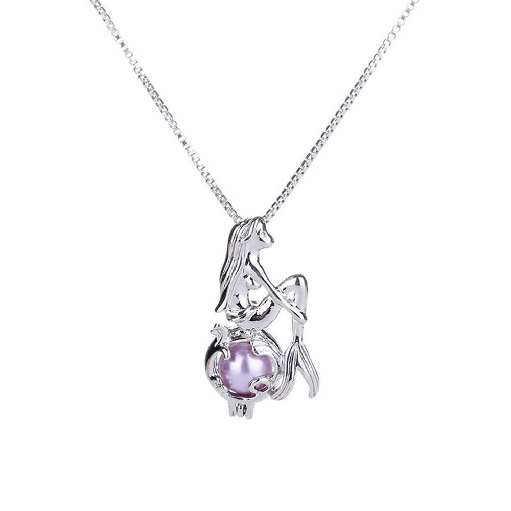New Cage Freshwater Pendant Mermaid Necklace Jewelry