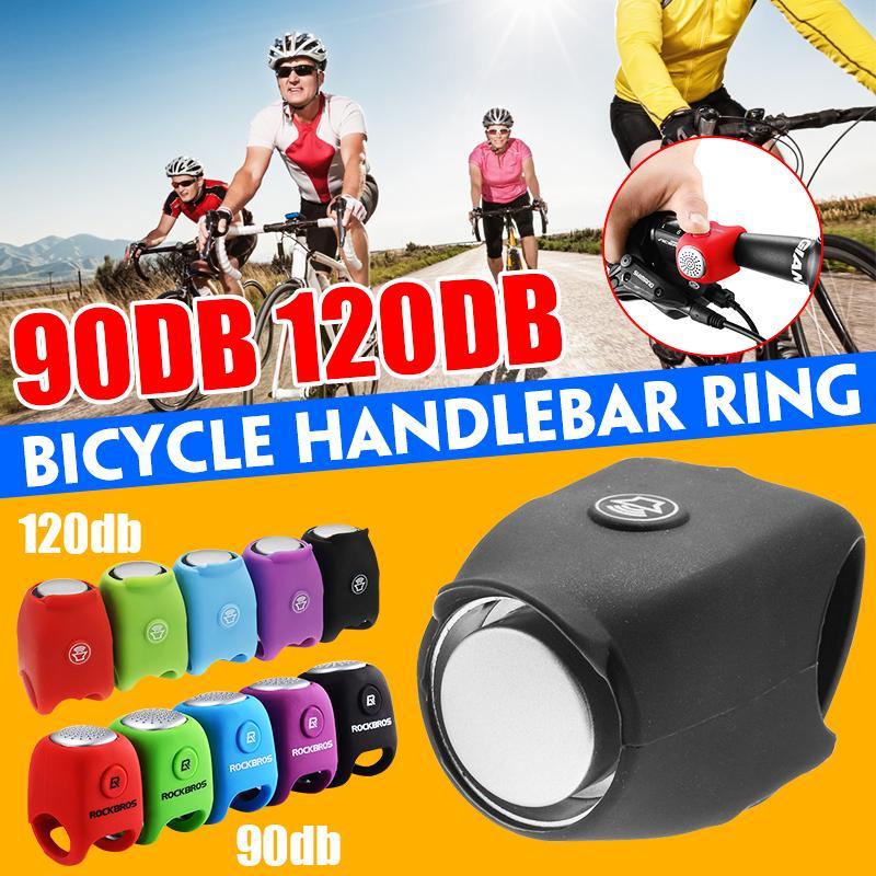 ROCKBROS 90db Bike Handlebar Bell Electric Ring Horns Sound Alarm Safety Blue