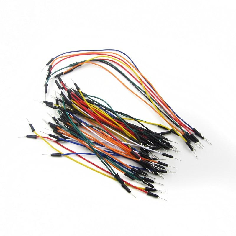 Lot 65PCS Breadboard Jumper Wires Male to Male Solderless Flexible Cable