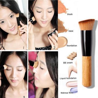 Women Beauty Cosmetics Liquid Foundation Brush Powder Makeup Brushes Concealer Blush