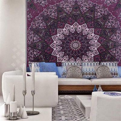 93fc8afaa Moda India estrella Hippie Mandala Psychedelic pared tapicería cama hoja  playa toalla de la mujer colgando