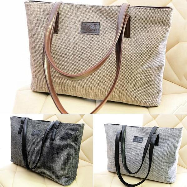 Холщовая женская сумка Yogodlns – купить по низким ценам в интернет-магазине Joom