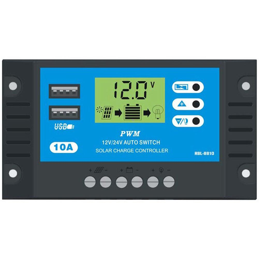 12//24V 10A Solar Charge Controller Battery Charger Regulator Auto Switch