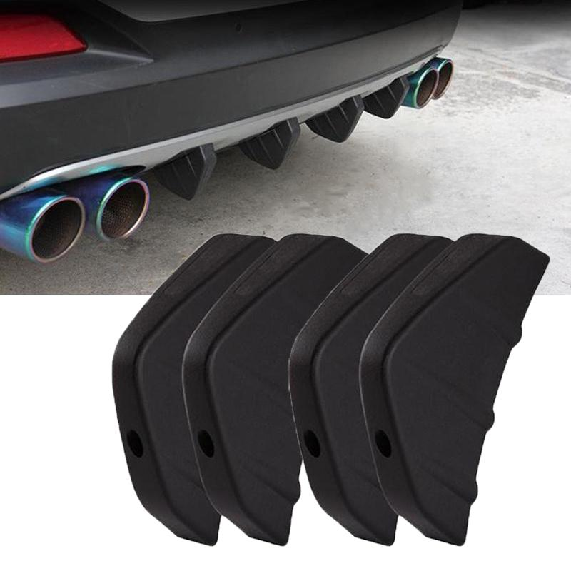 Rear Bumper Diffuser Shark Pin Air Spoiler 4P Cover Black Red for Universial All