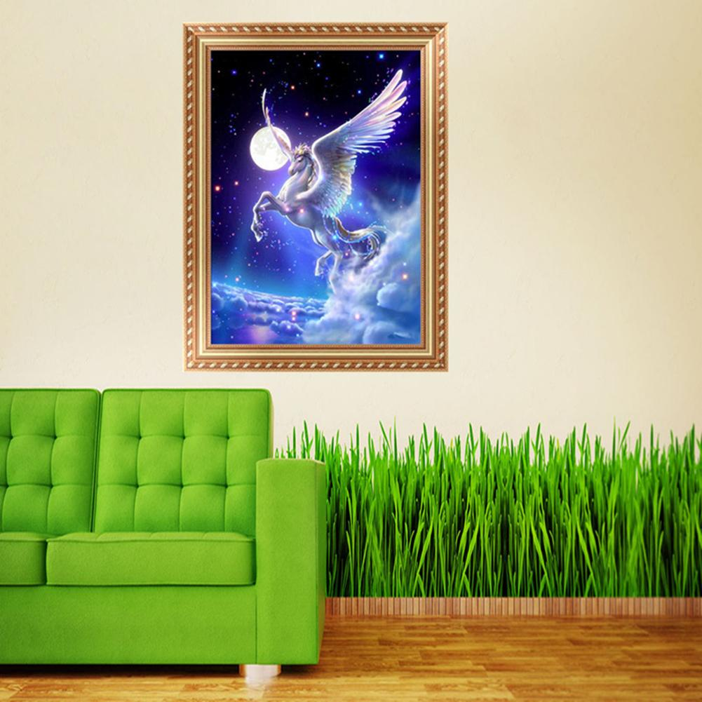 HHmei Christmas Diamond Rhinestone Pasted Embroidery Painting Cross Stitch Home Decor Decorations Outdoor Tree Table Lights Blue Home Set Silver Wall Ornaments luminarias 23A
