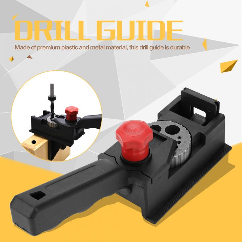Drilling Guide 38pcs//set Wood Dowel Straight Hole Jig Drill Bit Woodworking Carpentry Positioner Locator DIY Tool