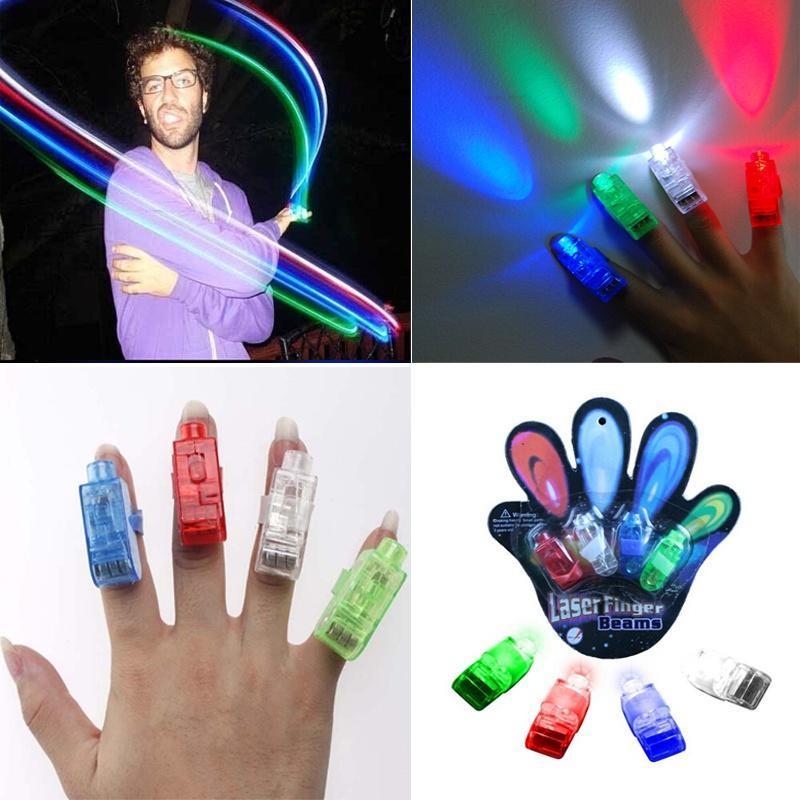 手指灯激光灯 散装彩色手指灯 LED戒指灯 义乌地摊货源