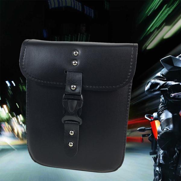 Sacoche Moto en Cuir PU Sacs de Selle de Moto Lat/érale Bo/îte /à Outils en Cuir Imperm/éable Sac de Selle Suspendu pour Harley Davidson Honda Suzuki Yamaha