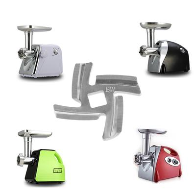 1Pc 50mm Household Meat Grinder Blade Special Stainless Steel Cross - Hole 8 Mm