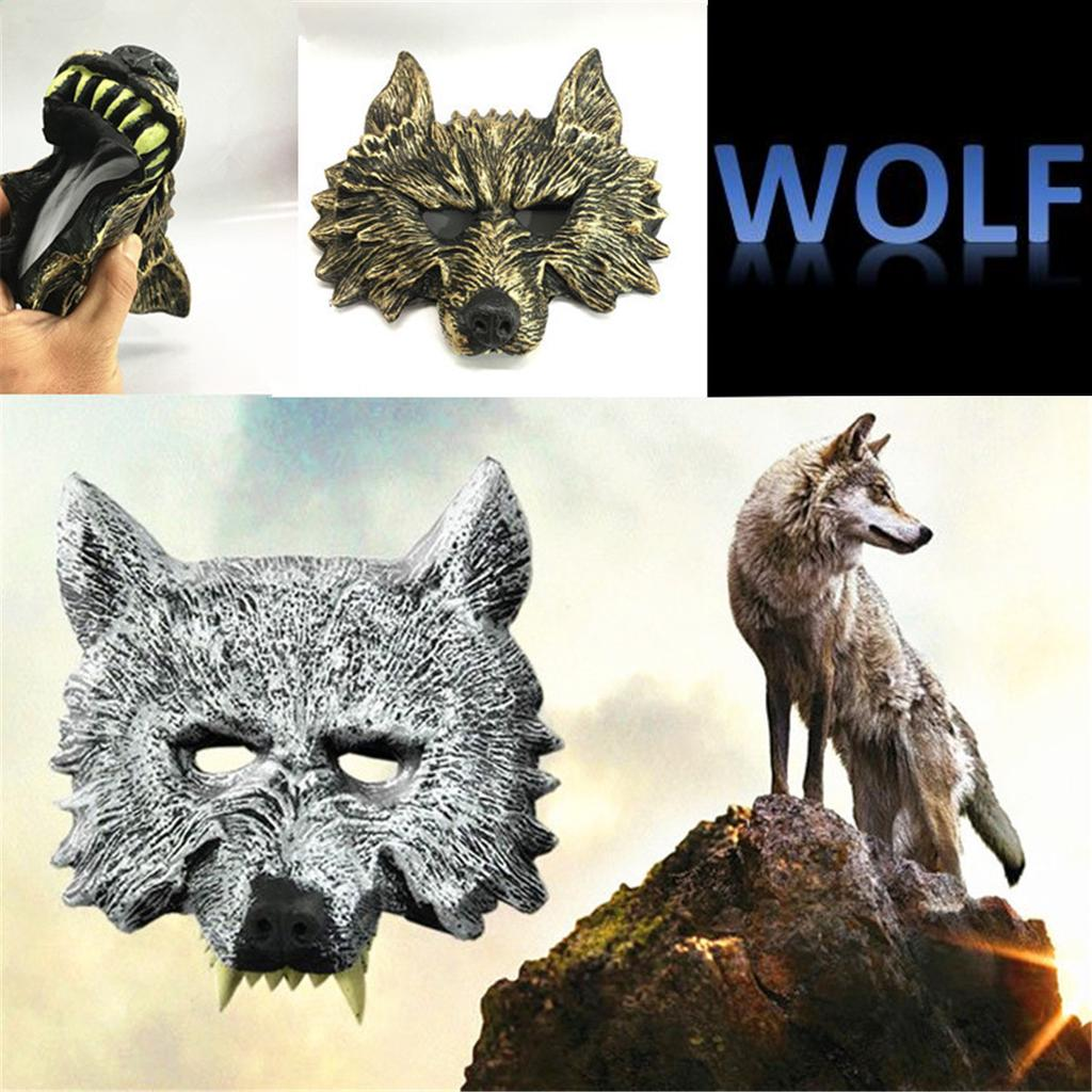 Horror Wolf Head Mask For Halloween Party Carnaval Masquerade CosplayParty