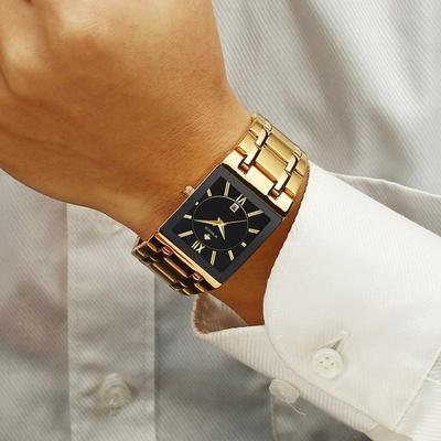 Men Watches Top Brand Luxury WWOOR Gold Square Quartz Watch Men 2020 Waterproof Wristwatch Men 2020