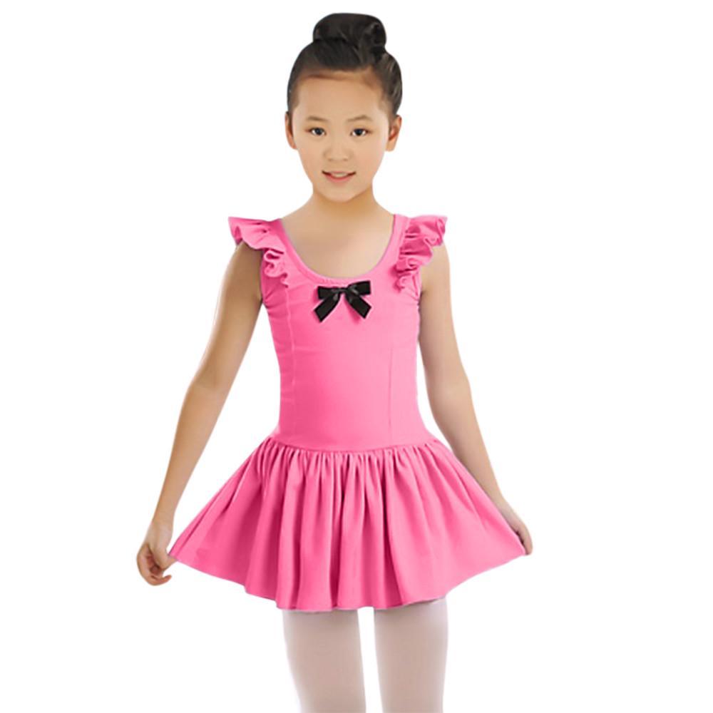 Ropa de niño niñas Ballet leotardo fruncido danza gimnasia Vestido ...