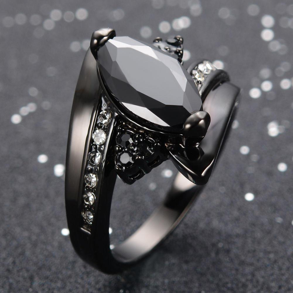 Women/'s Wedding Gift Flower White Topaz Silver Pink CZ Rhinestone Ring Size 6-9