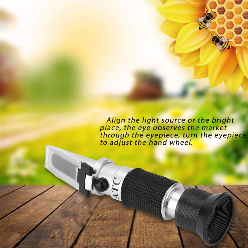 58-90/% Refractometer Digital,Portable Honey Refractometer Honey Concentration Meter Refractometer Brix Bee Tools for Measuring Honey,Condensed Milk,Vegetable Oils,Sugar Syrup,Fruit Jam and Molasses