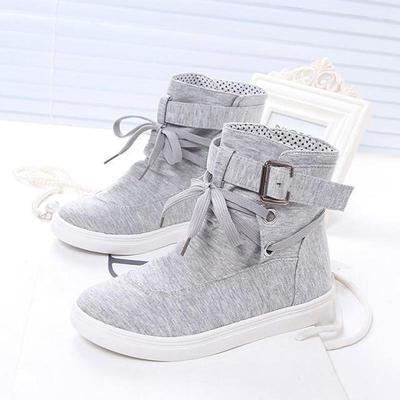 Women Lace up Casual High Top Sneakers Canvas Shoes buy at a