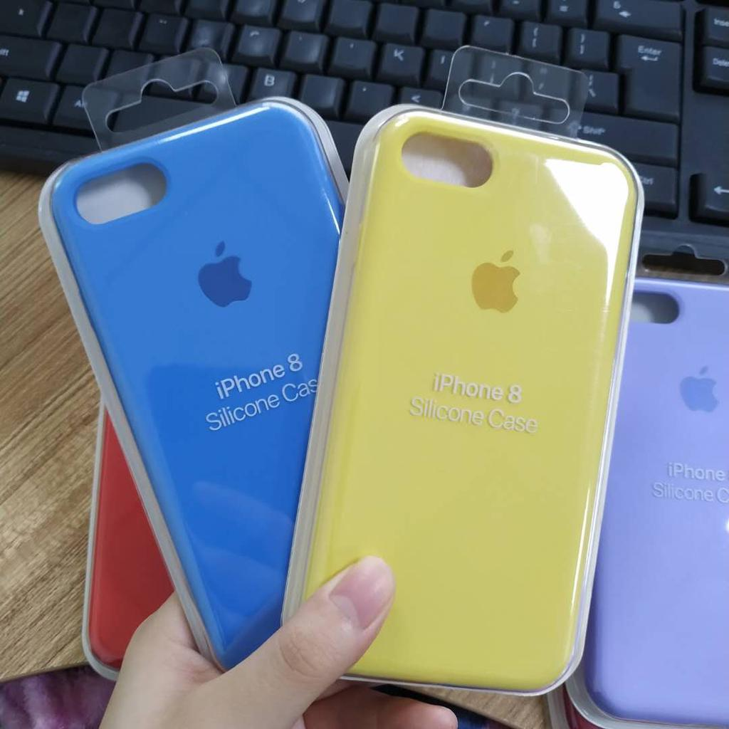 Apple Original Silicone Case For iPhone 5 6 6S 7 8 Plus XS XR XS Max Have Logo Official Phone Cover