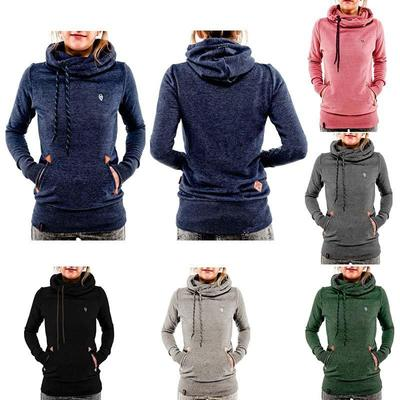 Casual Embroidery Long Sleeve Sweatshirts Spring Autumn Winter Women Hoodies Pullovers With Pocket Hooded Female Sweatshirt