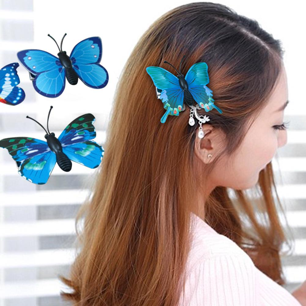 5Pcs Butterfly Flower Hair Claw Clamp Hair Clips Wedding Party  Bridal Hair Pins