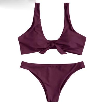 522f8d40b9 Sexy Knotted Scoop Neck Bikini Set-buy at a low prices on Joom e ...