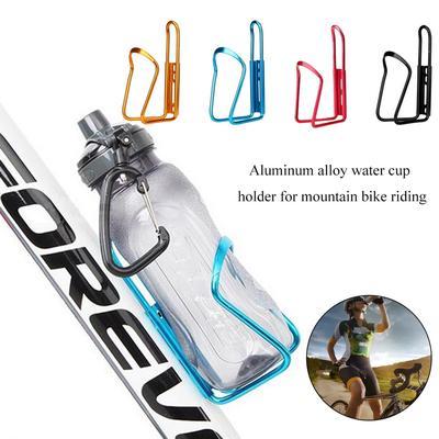 Drink Holder Aluminum Alloy Bracket Water Bottle Cage with Hook Bike Cup Rack